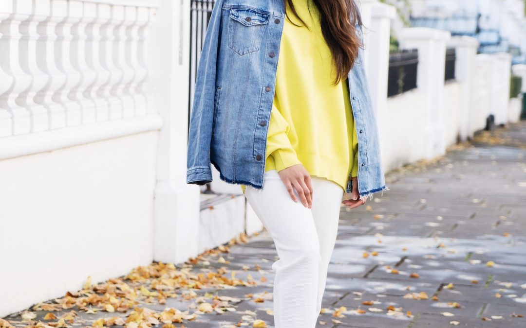 Yellow, White and Denim