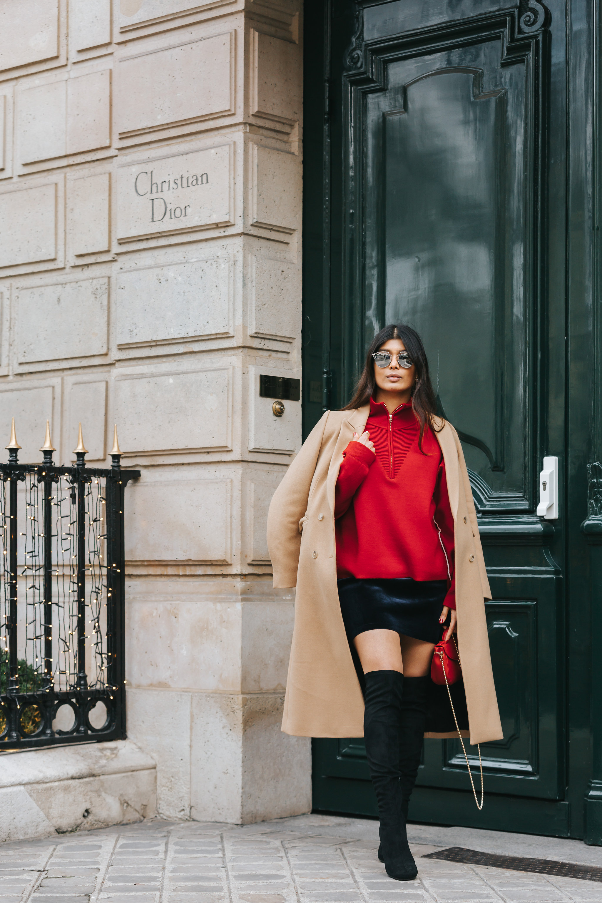 Camel Coat In Paris